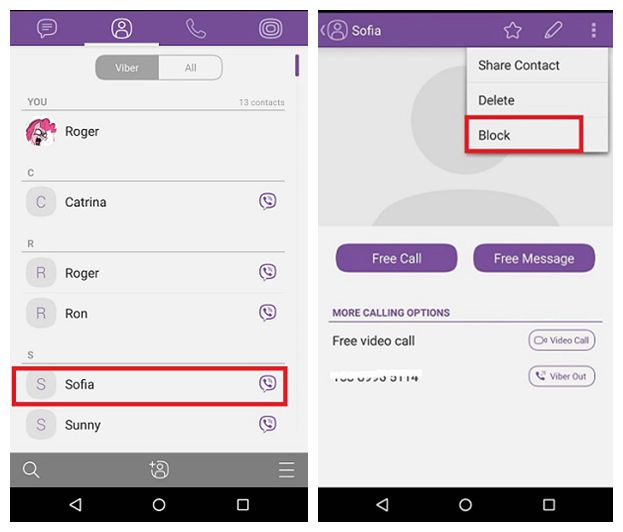 How To Block Unblock People On Android Viber