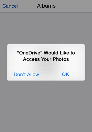 Allow OneDrive Access