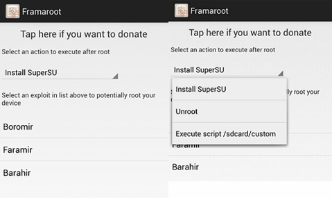 Root Android with Framaroot