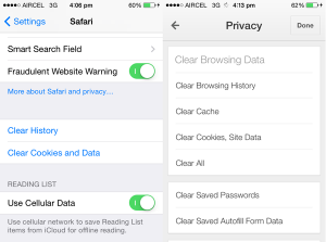 How to clear app data on iphone 5