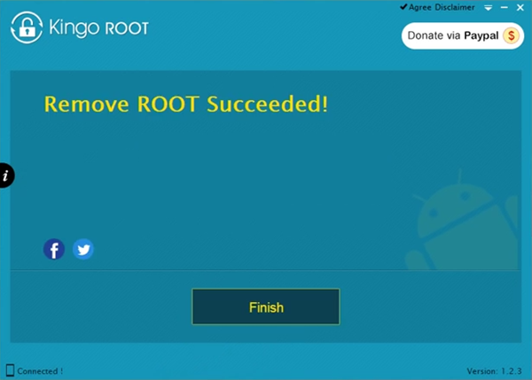 Remove Root Succeeded