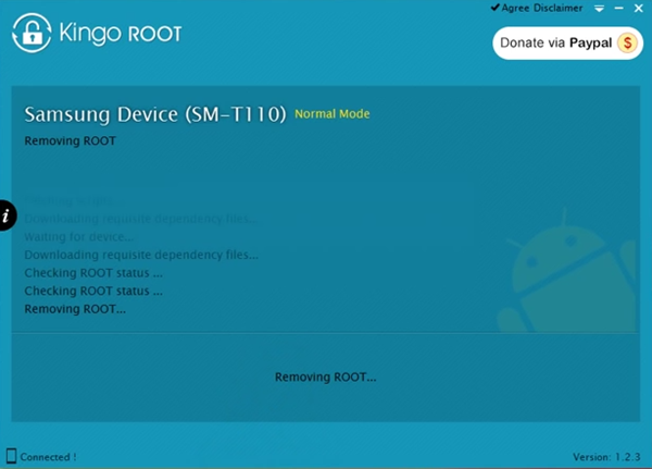 Removing Root Access with KingoRoot
