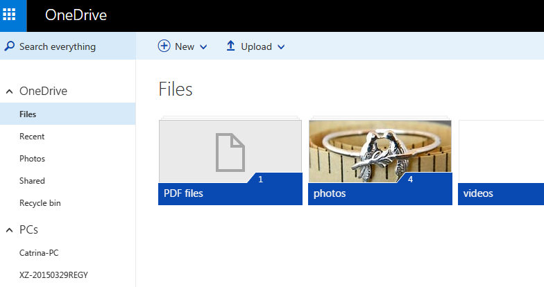 Use OneDrive to Backup Files in Computer, Android, WinPhone