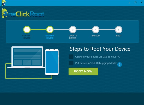 OneClick Root: Connect Android to PC