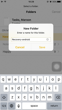 Organize Notes in Folder