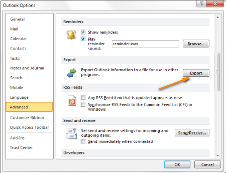 outlook2010-export-contacts
