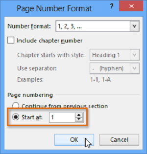 numéroter page word 2010