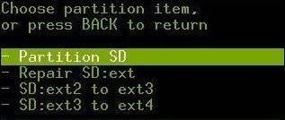 Partition SD Card