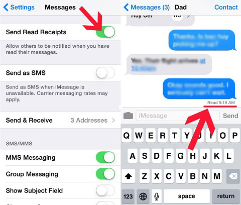 Enable iMessage Read Receipts