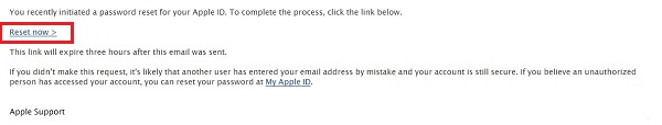 Reset Password Email Sent by Apple Inc.