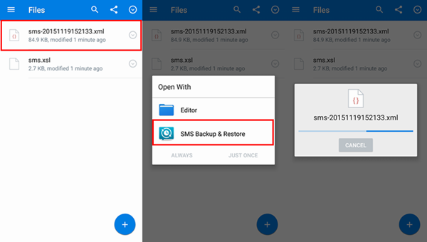 Upload SMS Backup to Dropbox