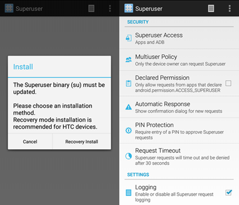 Android Root Manager – Superuser vs  SuperSu Pro