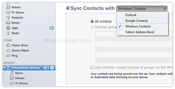 How to Backup Contacts on iPhone 5s